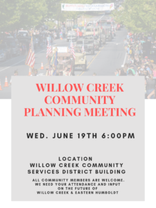 Willow Creek Community Planning Meeting