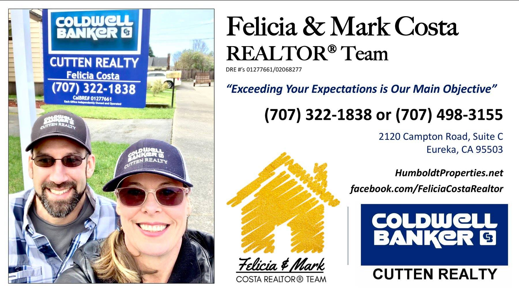 Felicia and Mark Costa Realtor Team Ad